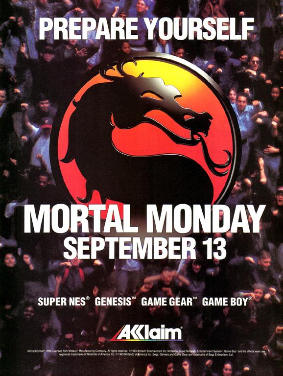 Mortal Kombat cumple 20 años MortalMondayAd